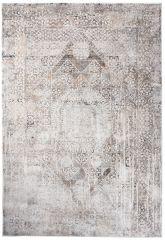 FEYRUZ 3D Area Rug Abstract Vintage Ornamental Frame White Grey