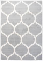 LAILA Vloerkleed Tapijt Modern Lichtgrijs Wit Design Marokkaanse Trellis