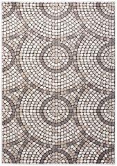 FIESTA Vloerkleed Tapijt Creme Lichtbeige Mozaiek Design Duurzaam