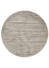 SARI Teppich Rund Grau Modern Meliert Einfarbig