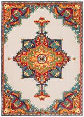 PATIO Vloerkleed Tapijt Binnen Buiten Oriental Mozaiek Kleurrijk