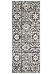 ETHNO Tapijt Loper Antraciet Mozaiek Modern Sfeervol Interieur
