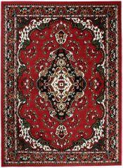 BALI Vloerkleed Tapijt Rood Groen Wit Bloemenprint Medaillon Design