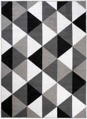 BALI Vloerkleed Tapijt Grijs Wit Zwart Design 3D Effect Geometrisch