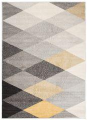 LAZUR Vloerkleed Tapijt Slaapkamer Grijs Geel Design Modern Geometrisch