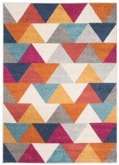 LAZUR Vloerkleed Tapijt Kleurrijk Oranje Grijs Design Geometrisch