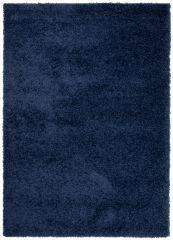 ESSENCE Tapis Moderne Monochrome Bleu Marine Poil Longue Shaggy