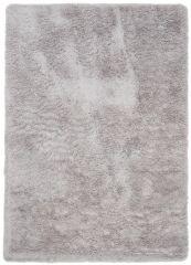 Silk Shaggy Teppich Hochflor Hellgrau Langflor Modern