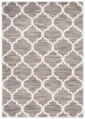 LAILA Modern Area Rug Short Pile Grey White Multicolour
