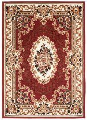 Laila Teppich Orientalisch Kurzflor Rot Creme Beige Floral