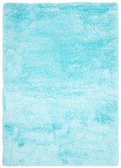 BIRD Teppich Shaggy Blau Einfarbig Weich Wohnzimmer Schlafzimmer