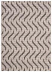 FLOORLUX Teppich Flachgewebe Sisal Schwarz Silber Modern Schlange
