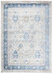 VALLEY Area Rug Vintage White Blue Multicolour Frame Durable