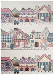 HAPPY Tapis Moderne Village Crème Multicolore Doux