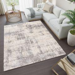 VERSAY Shaggy Area Rug Living Room Designer Cream Grey Durable