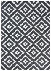LUXURY Area Rug Modern Short Pile Diamond Dark Grey White