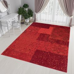 Antica Tappeto Rosso Orientale Tradizionale Ornamentale