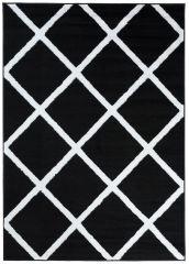 LUXURY Vloerkleed Tapijt Zwart Design Geometrisch Interieur Sfeervol
