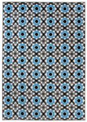 MAYA Vloerkleed Tapijt Grijs Blauw Antraciet Bloemen Modern Design