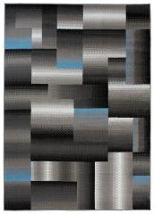 MAYA Vloerkleed Tapijt Grijs Blauw Zwart Abstract Geometrisch Design