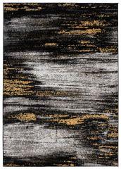 Maya Teppich Kurzflor Modern Design Schwarz Grau Gelb Weiß