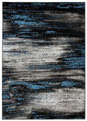 Maya Teppich Kurzflor Modern Meliert Design Schwarz Grau Blau
