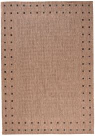 FLOORLUX Tapis Moderne Bordure Marron Noir Résistant Sisal