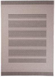 FLOORLUX Tapis Moderne Rayures Beige Noir Résistant Sisal