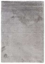 Elysee Shaggy High Pile Area Rug One Colour Plain Light Grey
