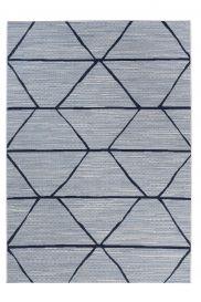 PRIME Indoor Outdoor Area Rug Sisal Kitchen Geometric Blue