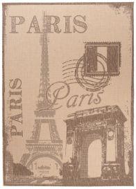 FLOORLUX Tapis Moderne Paris Beige Marron Résistant Sisal