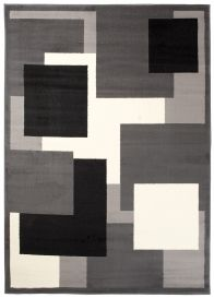 DREAM Vloerkleed Zwart Grijs Wit Design Geometrisch Duurzaam