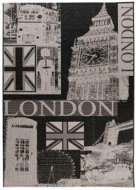 FLOORLUX Vloerkleed Tapijt Antraciet Grijs London Design Modern