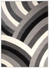 DREAM Vloerkleed Grijs Abstract Regenboog Geometrisch Woonsfeer