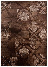 TANGO Area Rug Short Pile Vintage Floral Oriental Brown