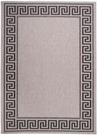 FLOORLUX Teppich Flachgewebe Sisal Grau Schwarz Griechisch Design