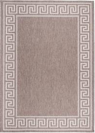 FLOORLUX Teppich Flachgewebe Sisal Modern Braun Creme Design