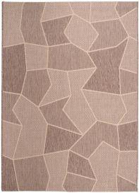 FLOORLUX Teppich Flachgewebe Sisal Braun Beige Modern Figuren