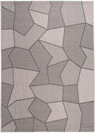 FLOORLUX Teppich Flachgewebe Sisal Grau Beige Modern Figuren