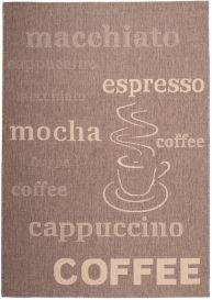 FLOORLUX Tapis Moderne Motif Café Marron Beige Résistant Sisal