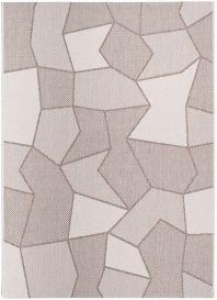FLOORLUX Teppich Flachgewebe Sisal Beige Modern Figuren Design