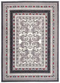 DREAM Vloerkleed Grijs Wit Rood Vintage Interieur Sfeervol Design