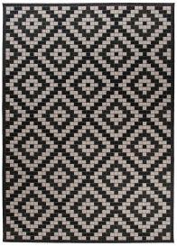 FLOORLUX Tapis Moderne Marocain Noir Gris Résistant Sisal