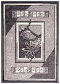 DREAM Vloerkleed Grijs Bloemen Design Trendy Modern Duurzaam