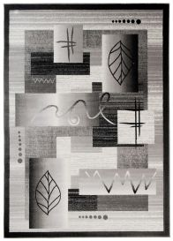 TANGO Vloerkleed Grijs Zwart Abstract Design Modern Interieur