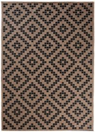 FLOORLUX Tapis Moderne Marocain Marron Noir Résistant Sisal