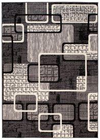 DREAM Vloerkleed Donkergrijs Abstract Modern Geometrische Vormen