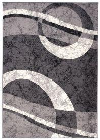 DREAM Vloerkleed Donkergrijs Lijnen Cirkel Geometrische Vormen