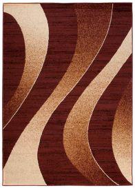 DREAM Teppich Modern Wellen Design Braun Creme Meliert