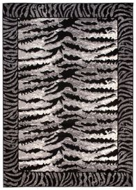 DREAM Modern Area Rug Tiger Animal Print Light Dark Grey